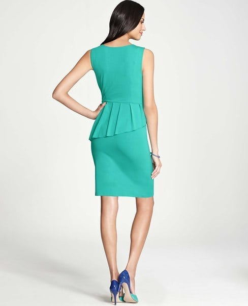 ann taylor peplum asymmetrical dress back