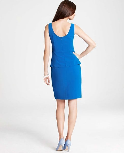 ann taylor peplum sheath dress back