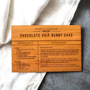Wooden Recipe Card from Magnolia Market
